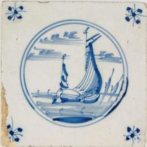 Fliza, ok. 1690-1700, Harlingen, Republika Zjednoczonych Prowincji, fajans malowany kobaltem