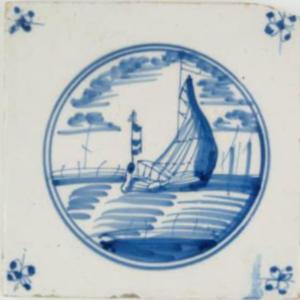 Fliza, ok. 1700-1720, Harlingen, Republika Zjednoczonych Prowincji, fajans malowany kobaltem