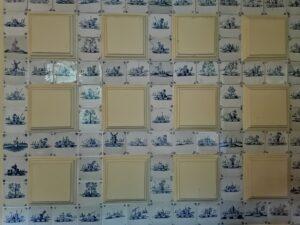 Fragment olicowania ściany oficyny wGardzienicach