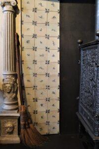 Fragment olicowania przy kominku, Dom Rembrandta, Amsterdam
