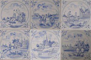 Kopie osiemnastowiecznych fliz amsterdamskich, wykonane przezAnnę Marię Strzelczyk