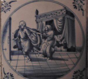 Żona Putyfara uwodzi Józefa, Rotterdam ok. 1690 r.
