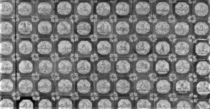 Flizy pejzażowe inakrapiane, wykonane wAmsterdamie około 1740 roku