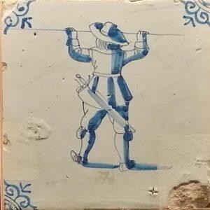 Pikinier, ornament narożnikowy typu wola główka, XVII w.