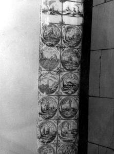 Fragment olicowania zaścianką działową wbiałej kuchni
