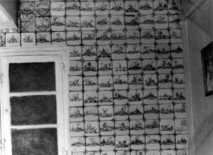 Ściana białej kuchni, rok 1978