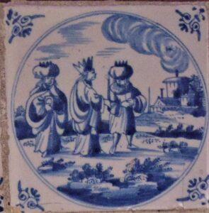 Trzej Mędrcy wdrodze doBetlejem, Rotterdam 1680-1720 r.