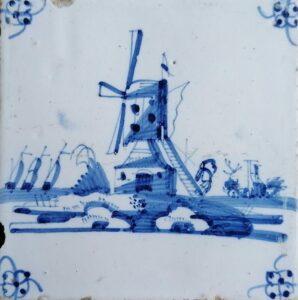 Wiatrak, ornament narożnikowy typu pająk, Amsterdam Ip. XVIII w.