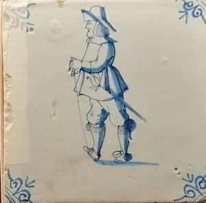 Żołnierz, ornament narożnikowy typu wola główka, XVII w.