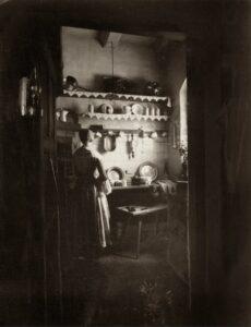 Kuchnia wdomku klucznika, 1899 r., własność Muzeum Zamkowe wMalborku